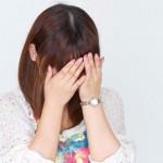 泣いてる女の子の写真